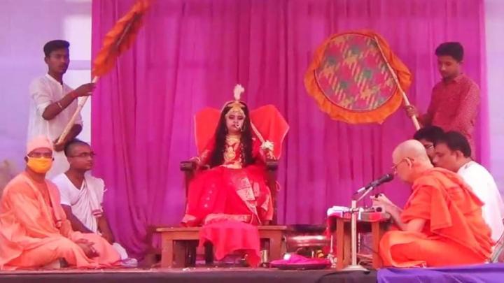 রামকৃষ্ণ মিশন আশ্রমের মহারাজ উত্তমানন্দজীউ মহারাজ সফলভাবে সম্পন্ন করেন পূজা